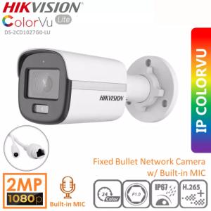 Hikvision 2 MP ColorVu Fixed Bullet Network Camera