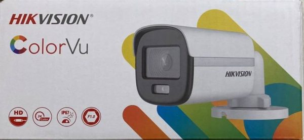 Hikvision DS-2CE10DF0T-PF 2 MP ColorVu Fixed Mini Bullet Camera
