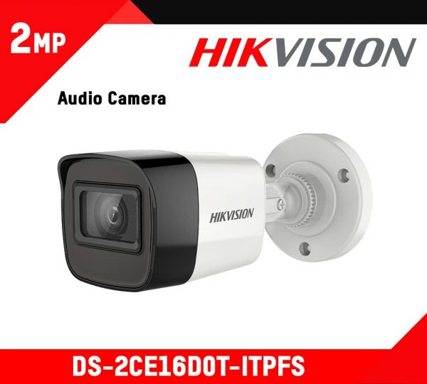 Hikvision Turret Audio Inbuild Camera (DS-2CE16D0T-ITPFS)