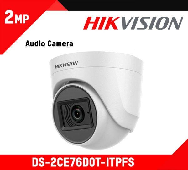 Hikvision Turret Audio Inbuild Camera (DS-2CE76D0T-ITPFS)