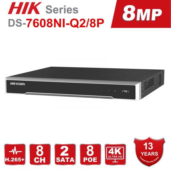Hikvision DS-7608NI-Q2 8-ch 1U 4K NVR