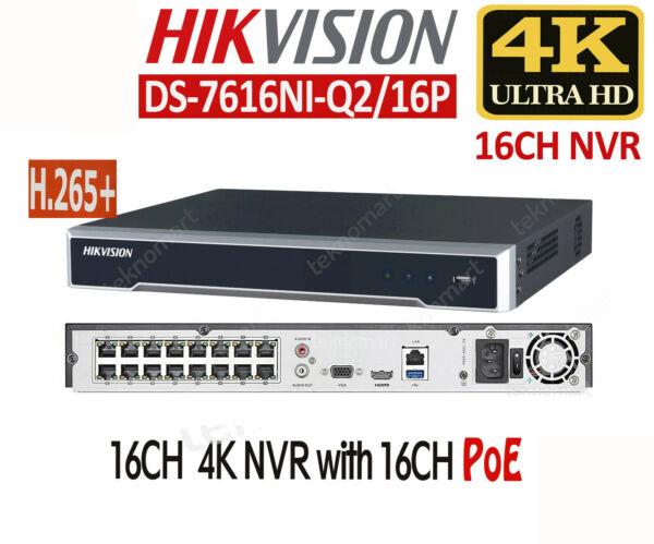 Hikvision DS-7616NI-Q2 16-ch 1U 4K NVR