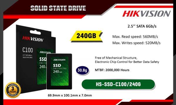 """Hikvision 240 GB C100 2.5"""" SATA SSD"""
