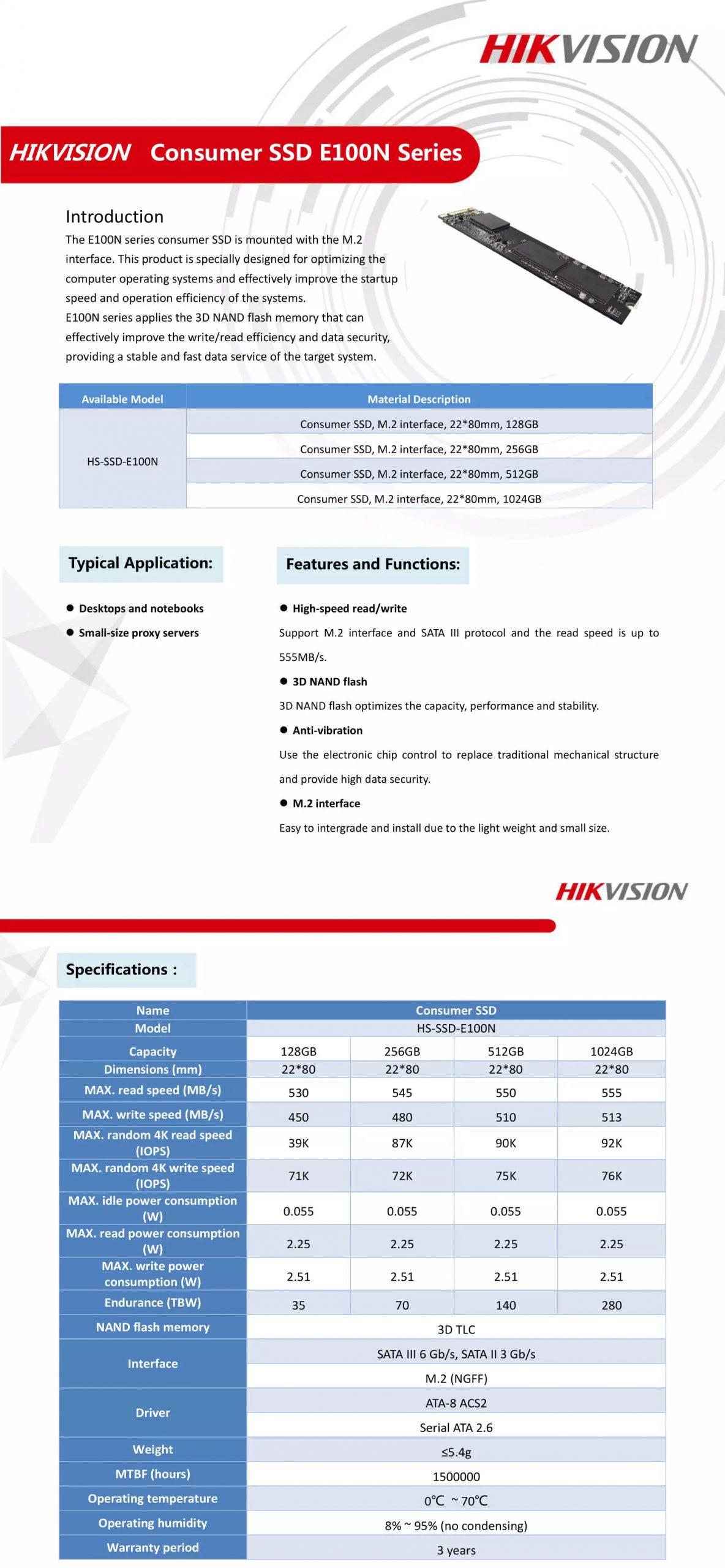 Hikvision M.2 SATA SSD