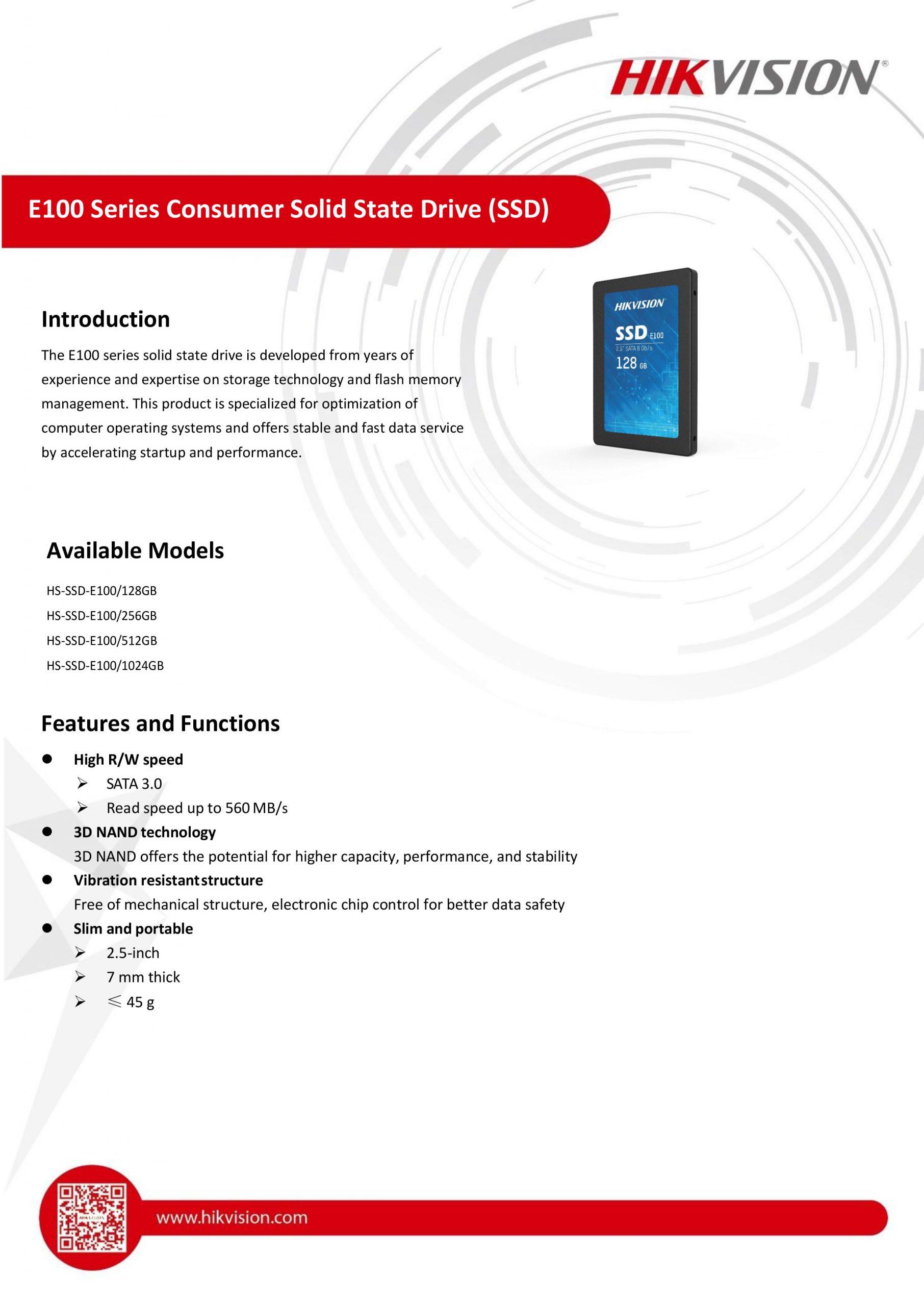"Hikvision E100 2.5"" SATA SSD"
