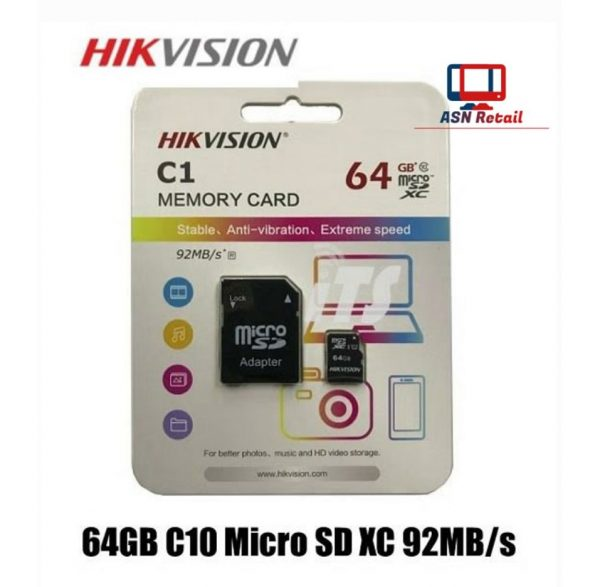 Hikvision C1 Class 10 64 GB Micro SD Card