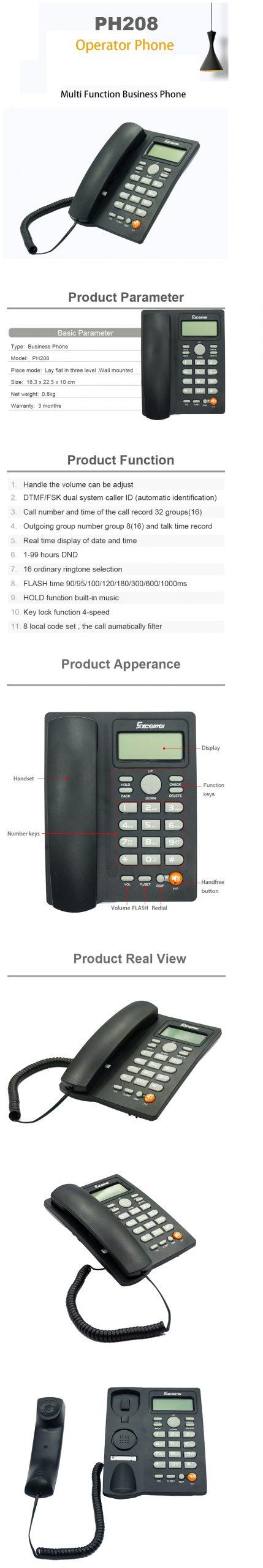 Excelltel Telephone set Callar-ID