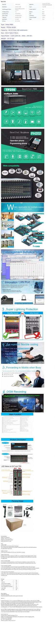 Excelltel PABX System 8Co Line 112 Extension